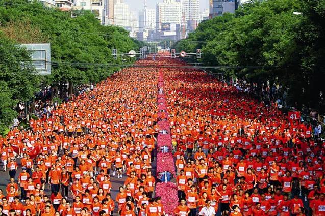 马拉松部份赛程(苏州