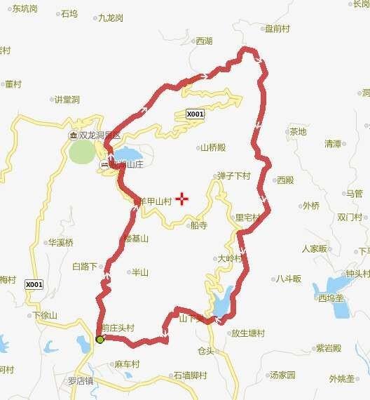 尖峰山风景区地图