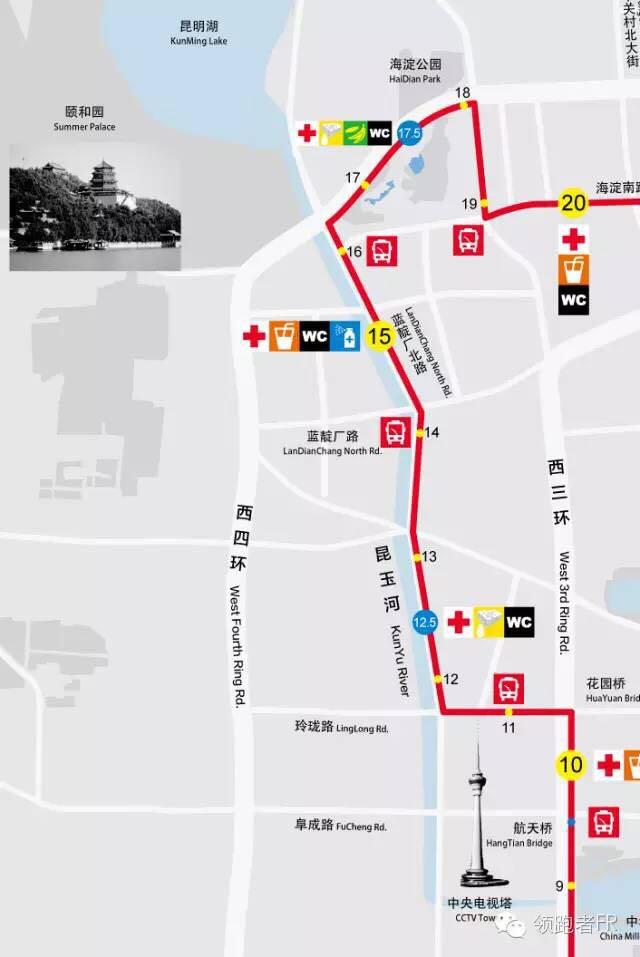 依次通过京西宾馆,中国科学技术信息研究所,中国电子国际工程研究院.
